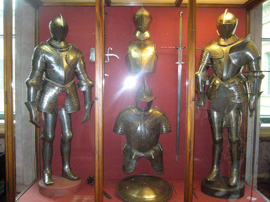 Armors in the Knight's Hall of the Hermitage