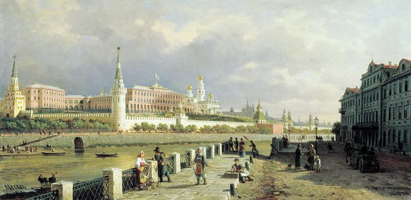 View of the Moscow Kremlin by Pyotr Vereshchagin