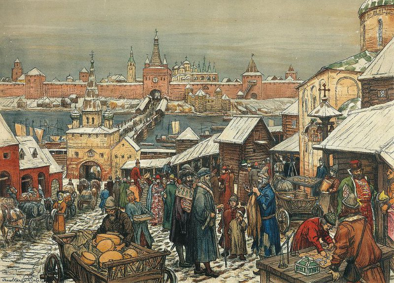 Novgorod Marketplace by Apollinary Vasnetsov