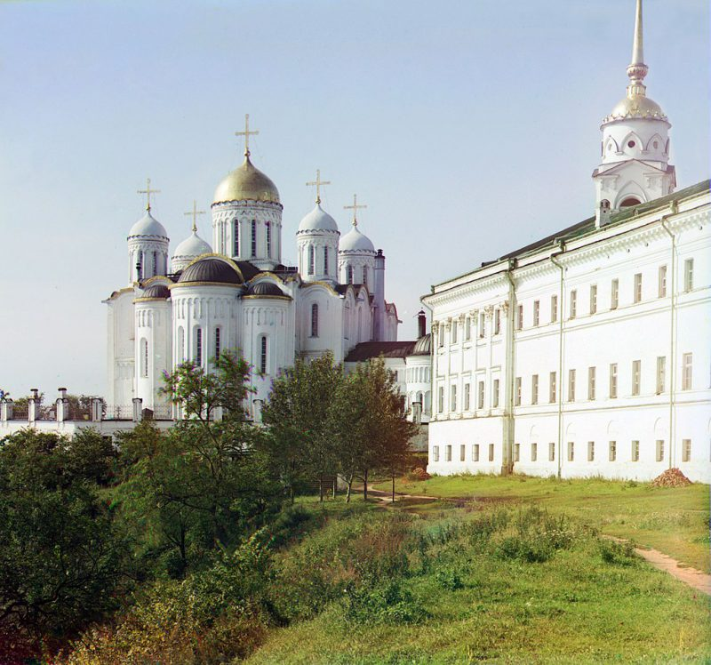 Assumption Cathedral in Vladimir. The main cathedral of North-Eastern Russia and the place where the Grand Princes of Vladimir sat on the throne
