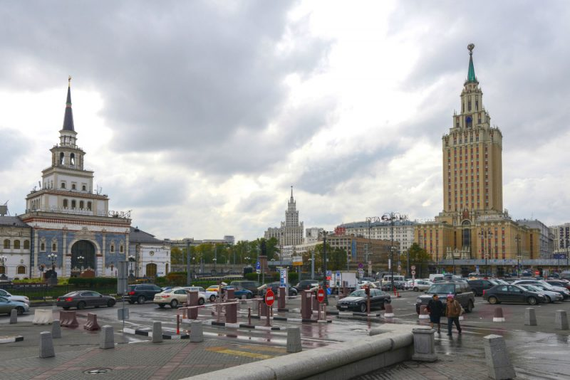 Examples of Stalinist architecture in Moscow