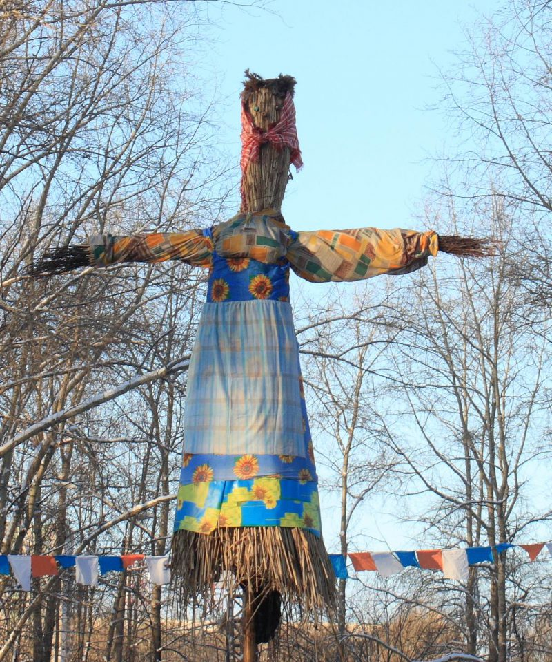 Maslenitsa effigy, our days