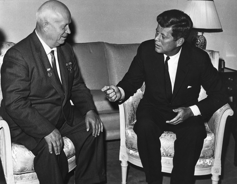 John F. Kennedy meeting with Nikita Khrushchev in Vienna