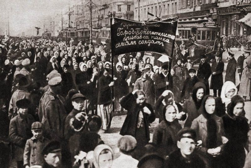 Women's manifestation in Russia, March 8, 1917