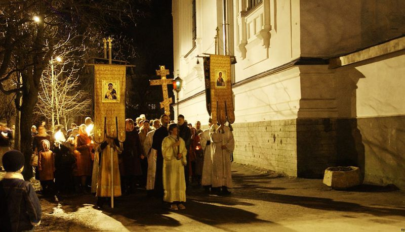 Orthodox Easter procession
