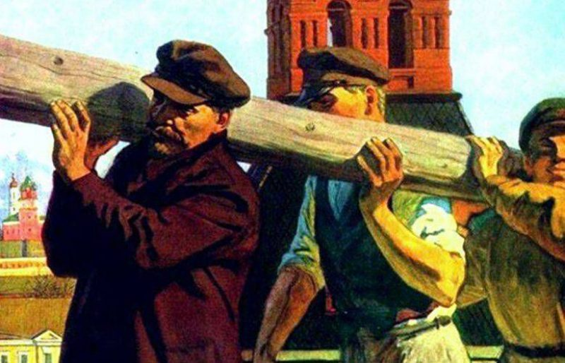 Lenin and a log (poster image)